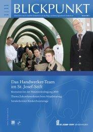 Blickpunkt 1/11 - St. Josef-Stift Sendenhorst