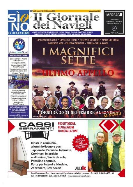 Giornale dei Navigli n. 32 - 18 settembre 2020