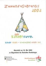 Zukunftsvertrag des Kindergipfels 2002