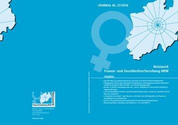 und Geschlechterforschung NRW JOURNAL Nr. 27/2010 - Netzwerk ...
