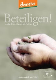 biodynamisch seit 1924 - Slow Food Deutschland eV