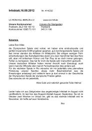 Infoblatt,16.09.2012 - LC RON-HILL Berlin