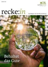 recke:in - Das Magazin der Graf Recke Stiftung Ausgabe 3/2020