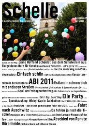 Schelle Nr. 17 vom Juli 2011 - Ev. Gymnasium Werther