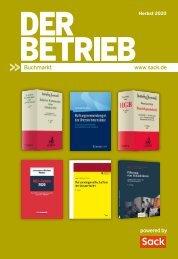 Der Betrieb Buchmarkt Herbst 2020