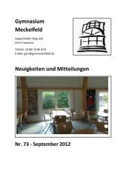 erstes Halbjahr 2012/2013 - Gymnasium Meckelfeld