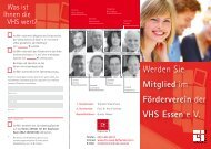 Förderverein - Volkshochschule Essen