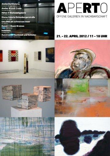 APRIL 2012 I 11 - 18 UHR - Atelier Brandt Credo
