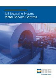 IMS Measuring Systems for Metal Service Centres