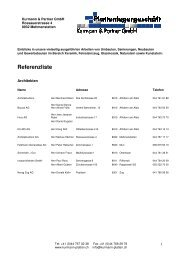 Referenzliste - Kurmann & Partner GmbH