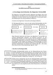 A. Grundlagen des Zivilrechts: Der Allgemeine Teil des BGB