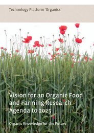 Vision for an Organic Food and Farming Research ... - TP Organics