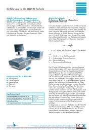 Einführung in die QCM-D Technik - L.O.T.-Oriel