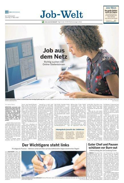 Job Welt 17 03 2012 Noz Mso Medien Service