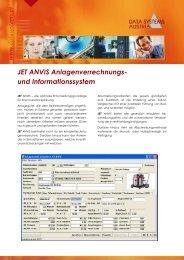 JET ANVIS Anlagenverrechnungs - Data Systems Austria