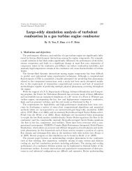 Large-eddy simulation analysis of turbulent combustion in a gas ...