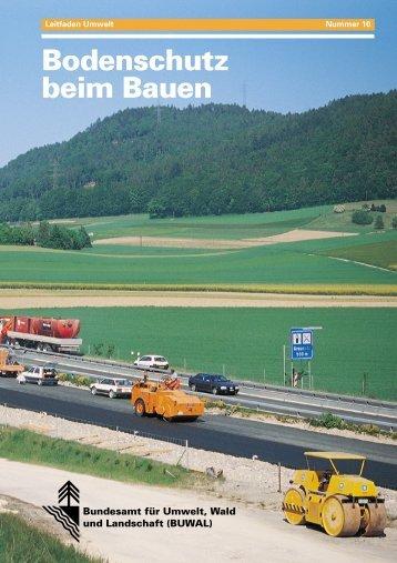 Bodenschutz beim Bauen - Bundesamt für Umwelt - admin.ch