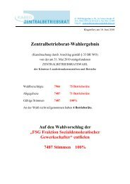 Zentralbetriebsrat-Wahlergebnis - Betriebsrat LKH Villach