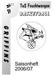 Saisonheft 2006/07 - TuS Feuchtwangen Basketball