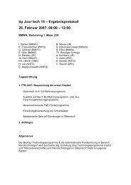 tip Jour tech 15 – Ergebnisprotokoll 20. Februar 2007, 09:00 – 12:00