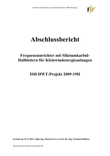 Abschlussbericht Frequenzumrichter mit Siliziumkarbid- Halbleitern ...