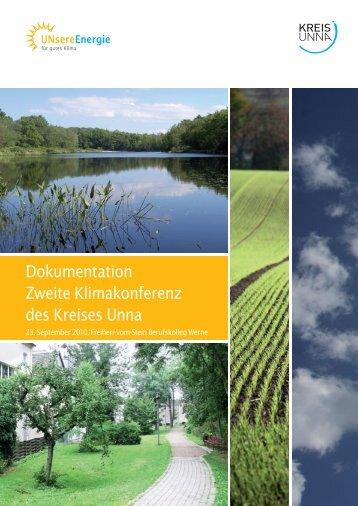 Dokumentation Zweite Klimakonferenz des Kreises Unna - Kreis Unna