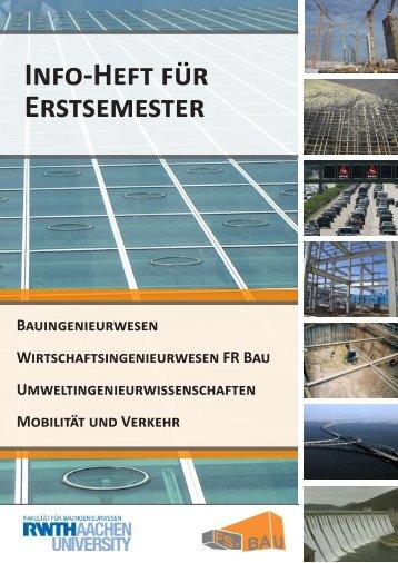 Ersti-Info 2012 - Fachschaft Bauingenieurwesen RWTH Aachen
