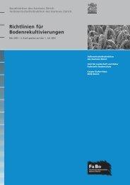 Richtlinien für Bodenrekultivierungen - Amt für Landschaft und Natur ...