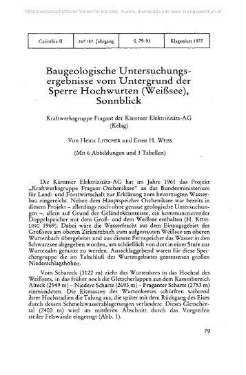 Baugeologische Untersuchungs- ergebnisse vom Untergrund der ...