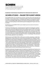 schirn studio – raum für kunst-ideen - Schirn Kunsthalle Frankfurt