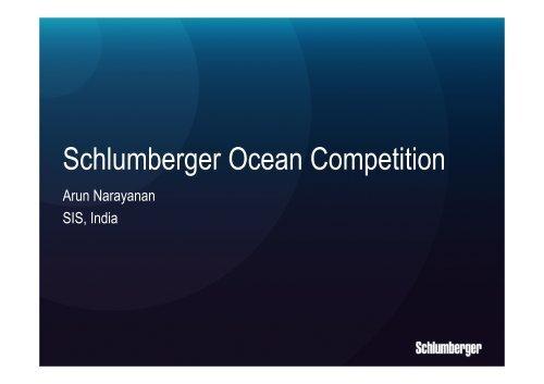 Schlumberger Ocean Competition Ocean Store Schlumberger