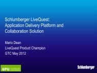 Schlumberger Information Solutions Application Delivery ... - Nvidia