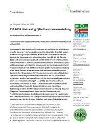FSB 2009: Weltweit größte Kunstrasenausstellung - PresseBox