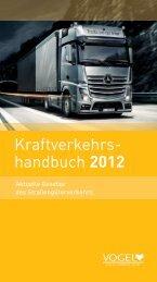Kraftverkehrs- handbuch 2012 - Verlag Heinrich Vogel