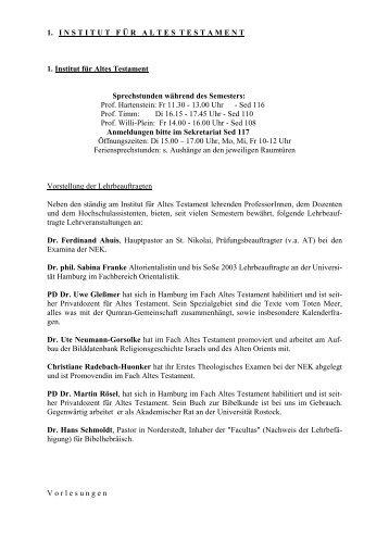 WS 05/06 – Altes Testament - Fachbereich Evangelische Theologie