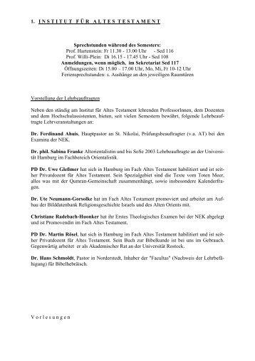 SS 06 - Fachbereich Evangelische Theologie