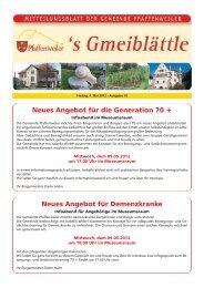 Neues Angebot für die Generation 70 + Neues ... - Suedlicht GmbH