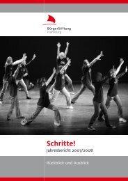 Jahresbericht 2007/08 - BürgerStiftung Hamburg
