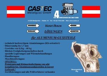 - technisch hochwertigem Aluminiumguss (Kfz-orientiert)