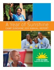 View the 2011 Camp Sunshine Annual Report