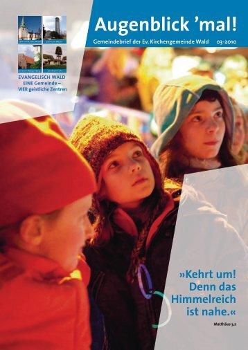 Augenblick - Evangelische Kirchengemeinde Wald