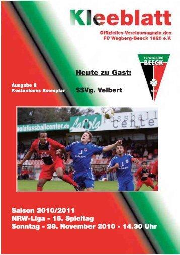 SSVg Velbert - FC Wegberg-Beeck 1920 e.V.