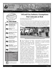 Oct 2011 Newsletter (pdf) - Sierra Club Rocky Mountain Chapter