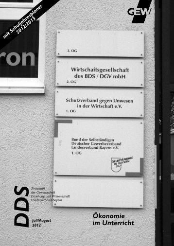 Ökonomie im Unterricht - GEW Landesverband Bayern