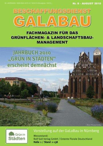 """""""GRÜN IN STÄDTEN"""" erscheint demnächst JAHRBUCH 2010"""