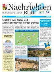 Nachrichtenblatt Nr. 17 vom 26. April 2012 - Verbandsgemeinde ...