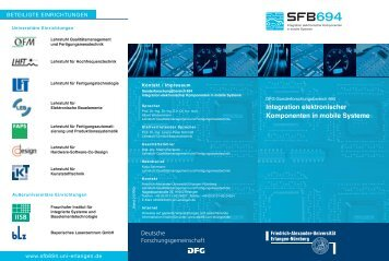 Integration elektronischer Komponenten in mobile Systeme