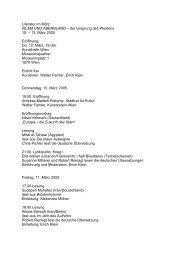 Literatur im März ISLAM UND ABENDLAND – der ... - Alte Schmiede