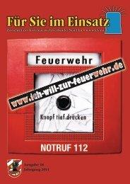 Für Sie im Einsatz 2011 - Kreisfeuerwehrverband und ...