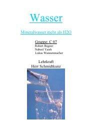 I. Was ist Mineralwasser?
